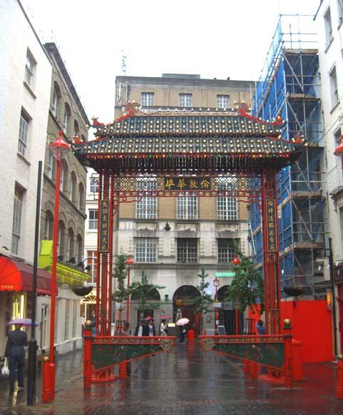 Chinatown im Regen
