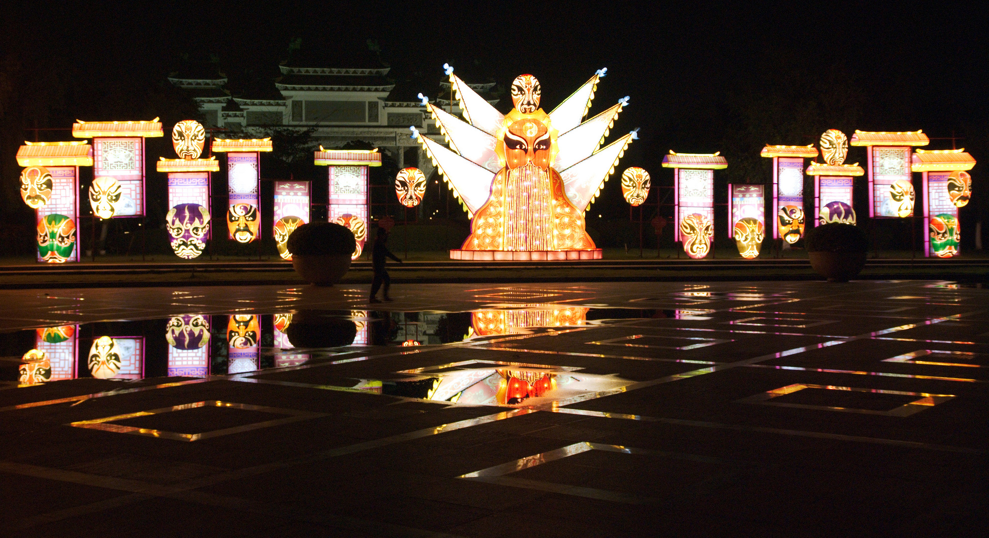 Chinese new year decoration in Shunde park
