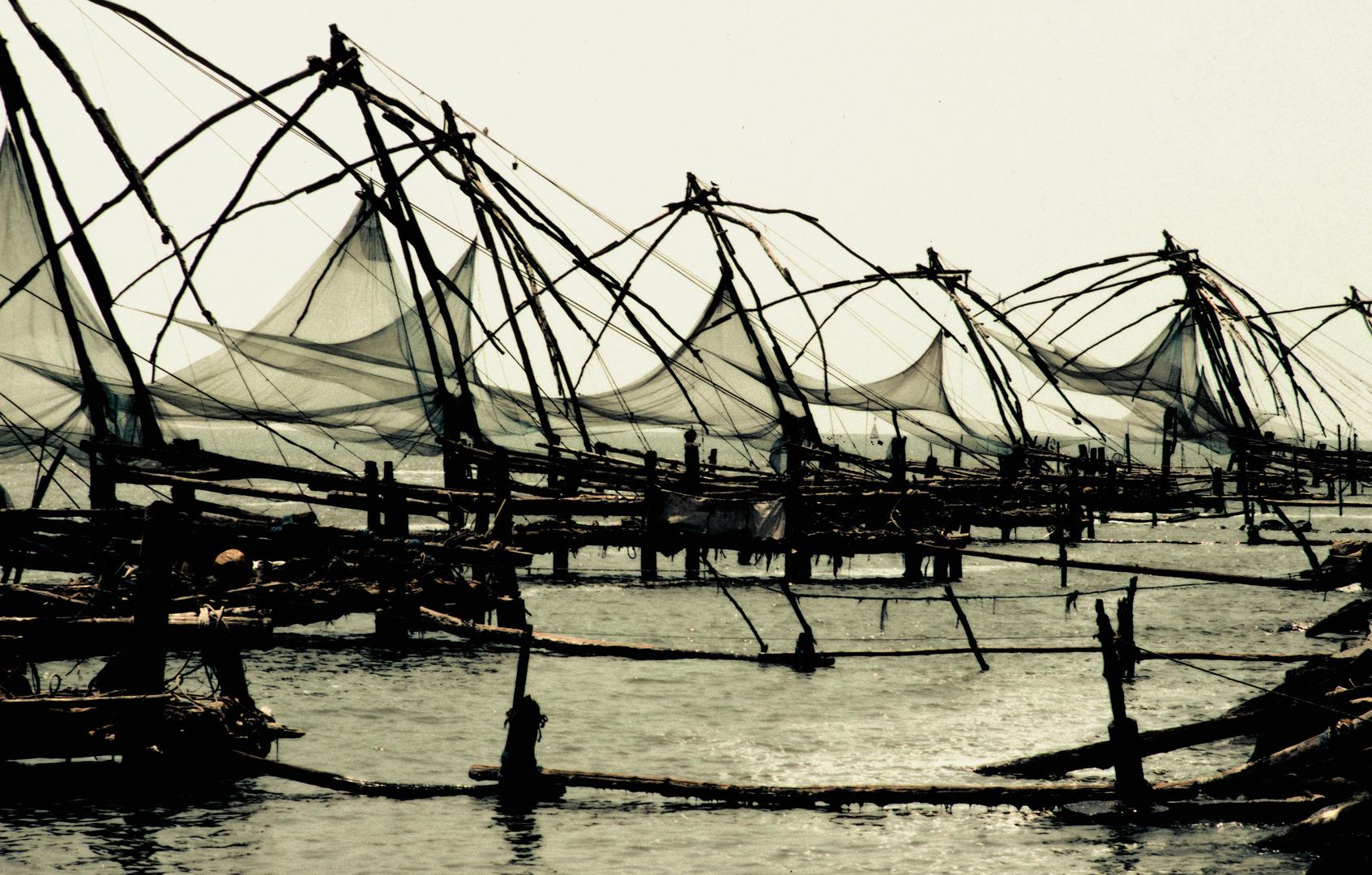Chinesische Fischernetze, Cochin