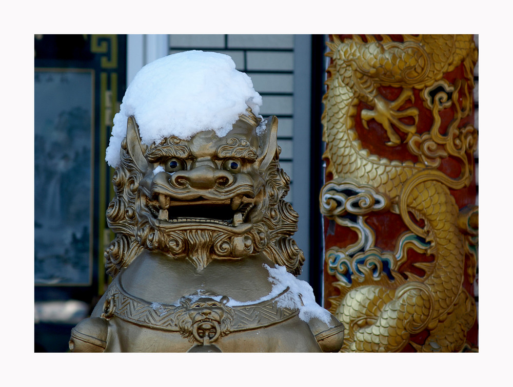 Chinesischer Schneemann