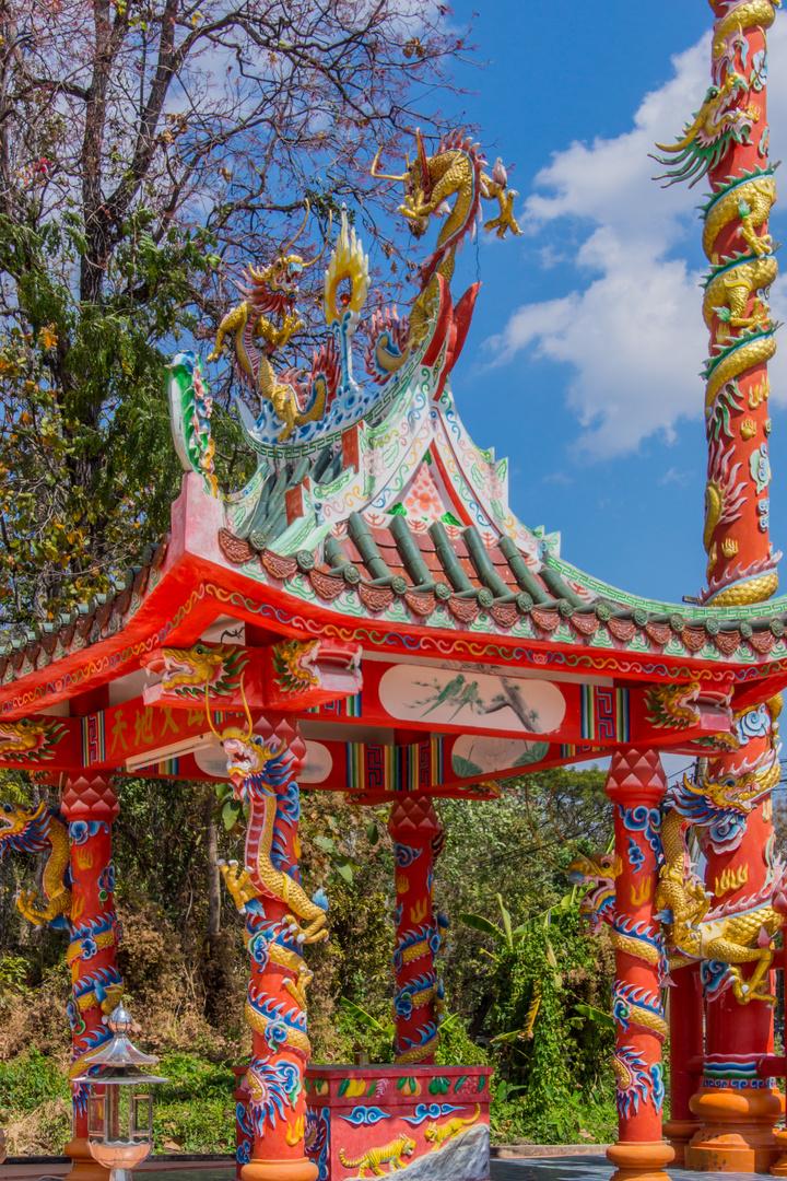 chinesischer Tempel - Doi Inthanon/Nordthailand