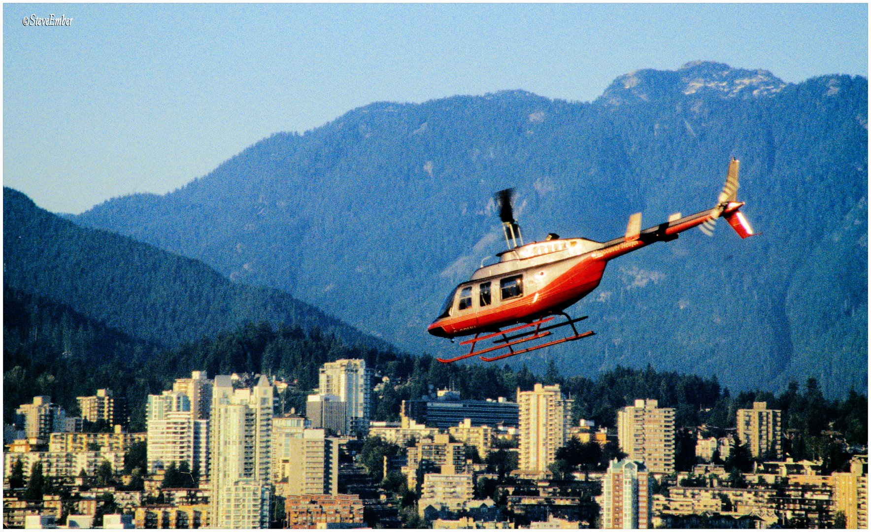 Chopper over Vancouver...