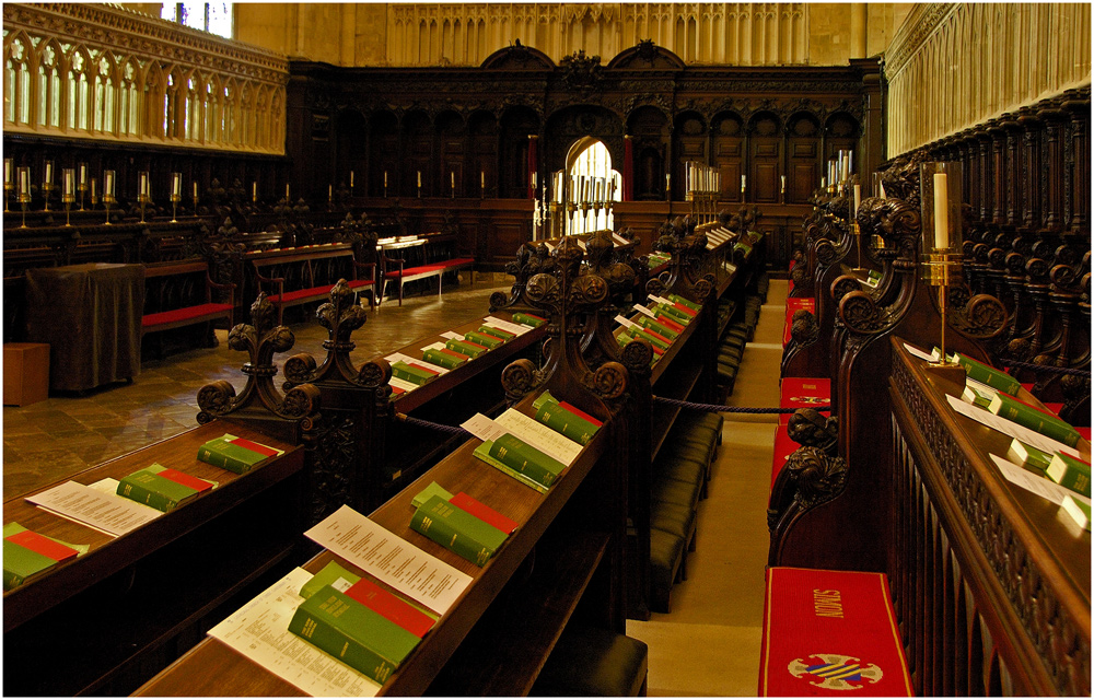 Chor in der Cathedrale zu Canterbury