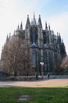 Chorabschluss von Osten, Kölner Dom Hochformat (29.11.2011)