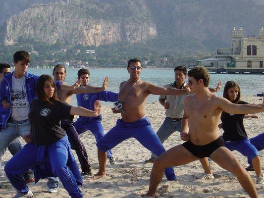 Choreographie am Strand