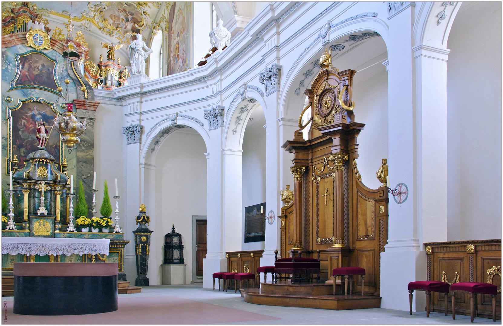 Chorgestühl der Klosterkirche Fischingen
