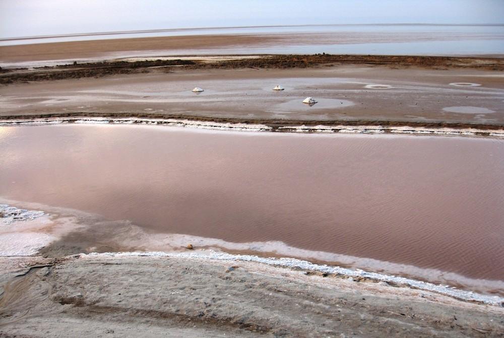 Chott El-Jerid au sud de la Tunisie
