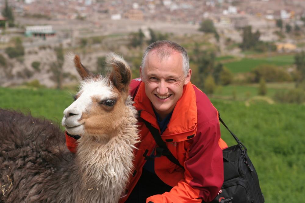 Chris mit Alpaca