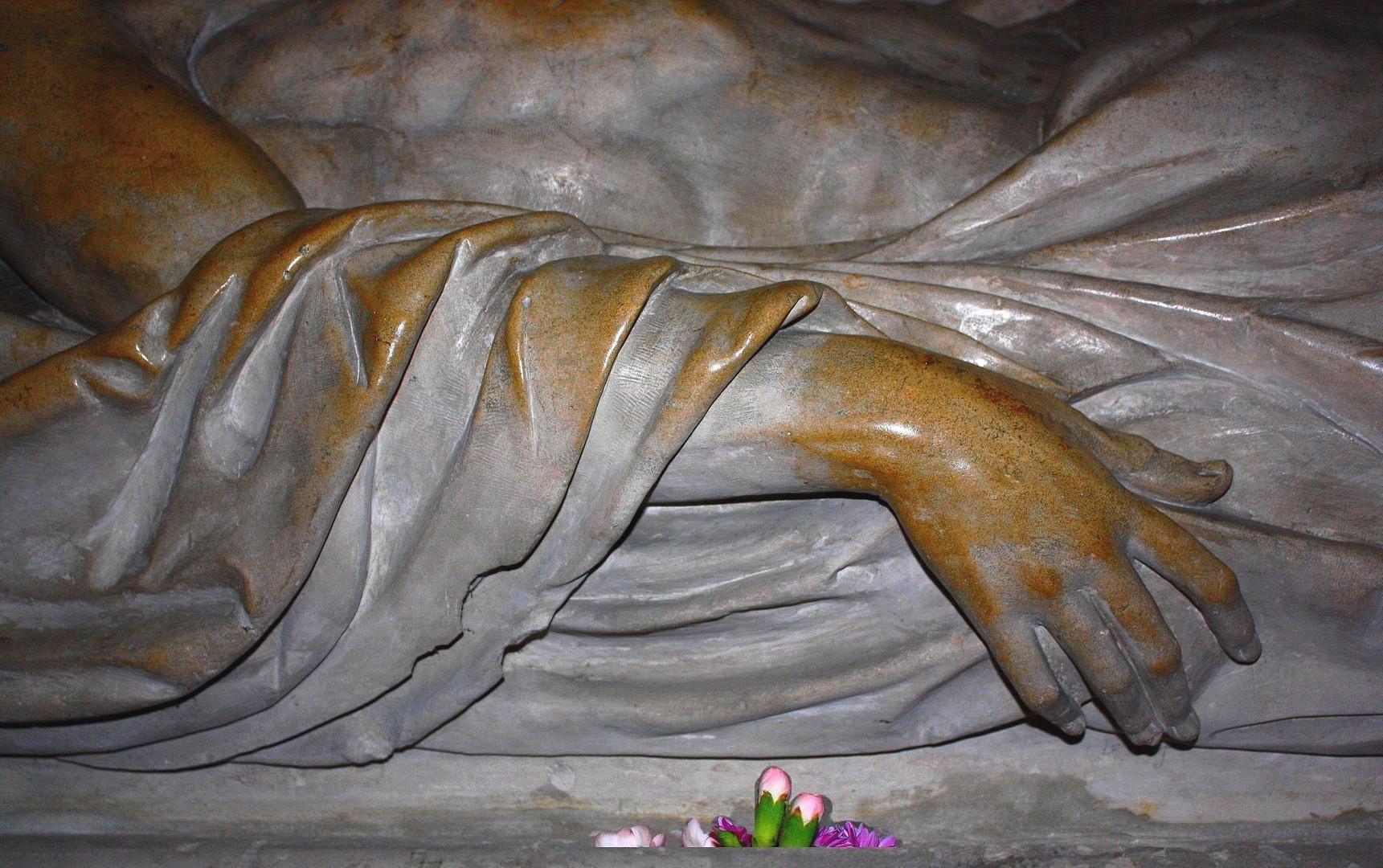 Christ en pitié Détail Eglise de Caudebec-en-Caux Seine Maritime