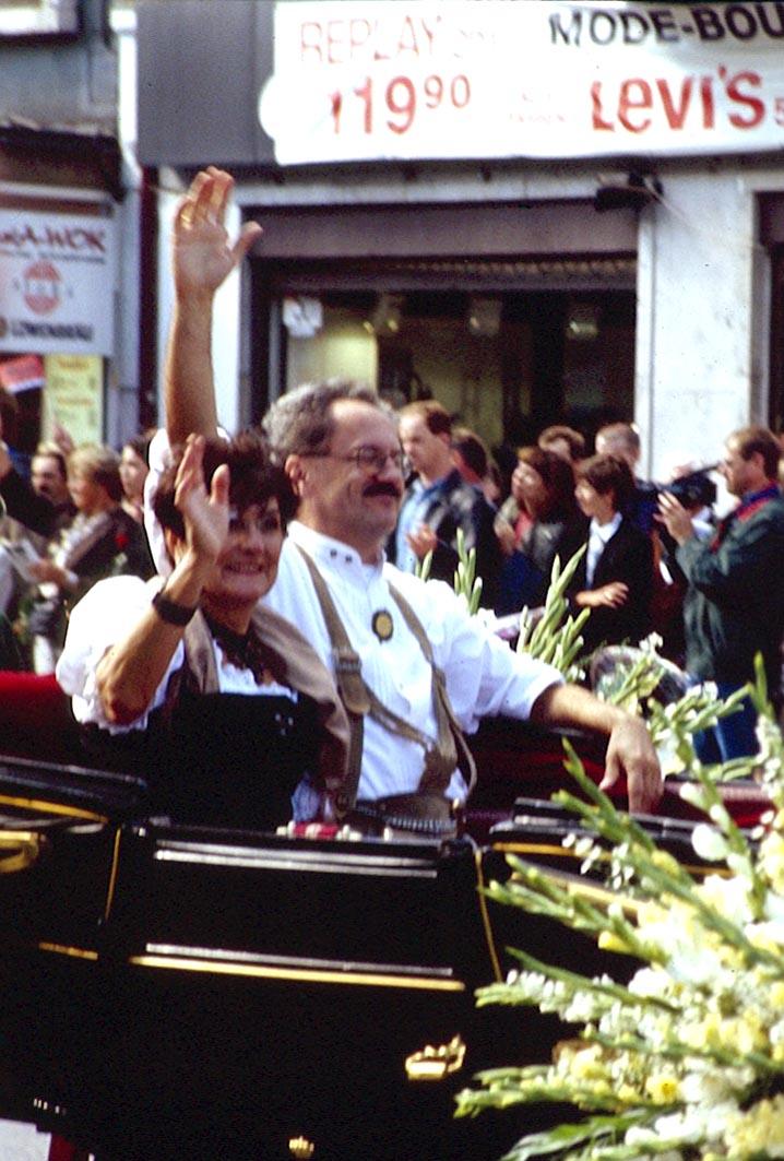 Christian Ude in der Kutsche zum Oktoberfest
