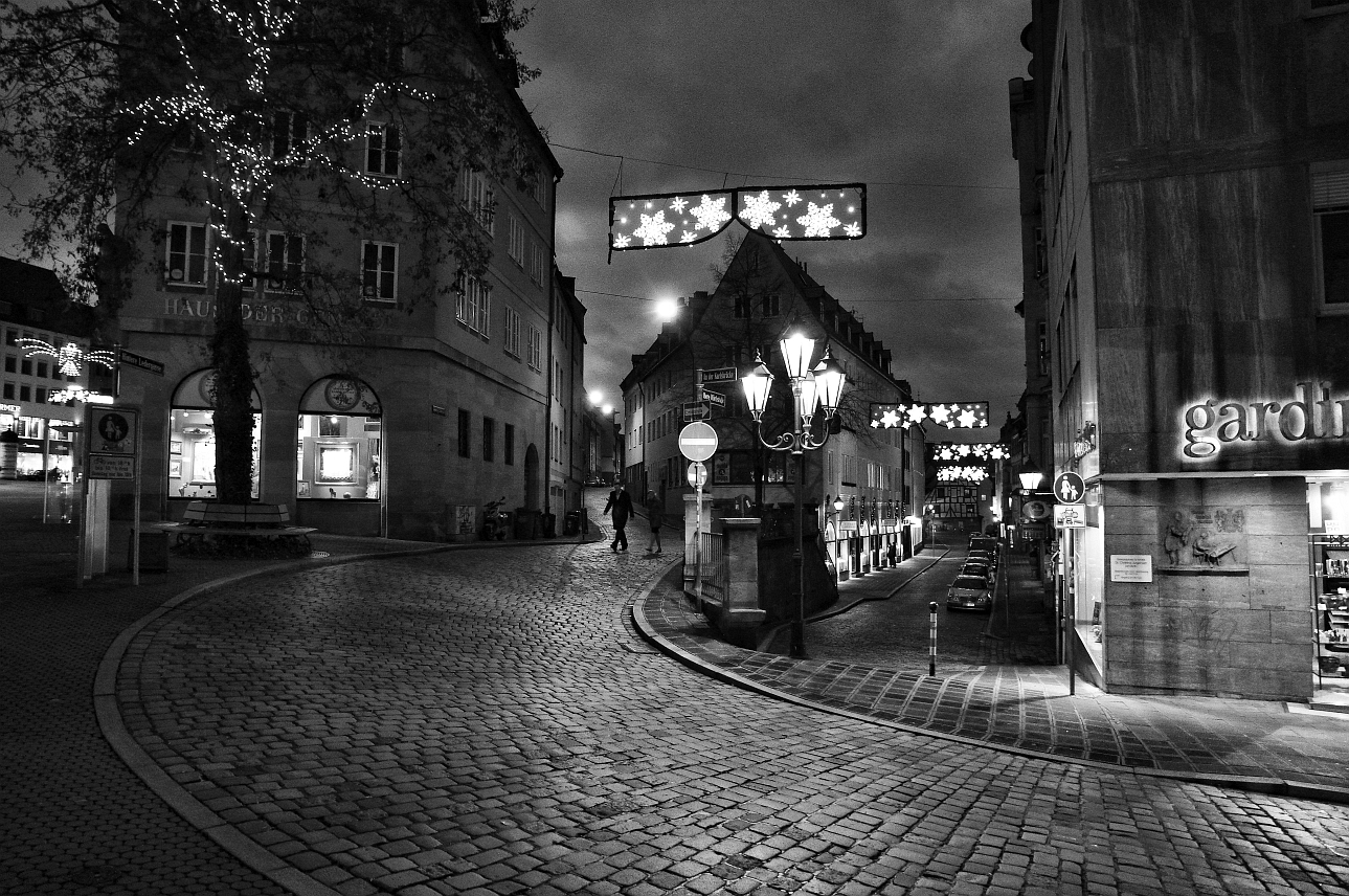 Christmas Eve in the city of Nuremberg