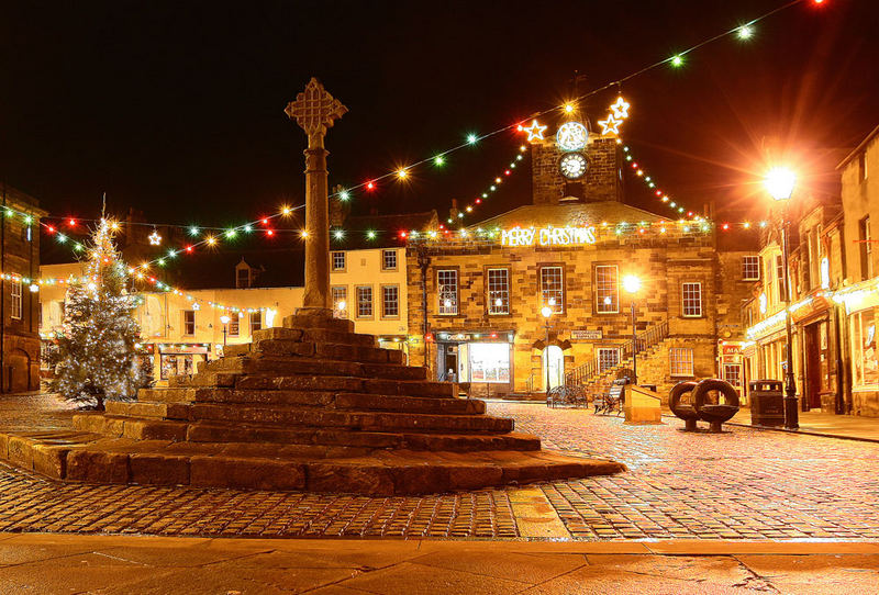 Christmas lights at Alnwick (my home town)