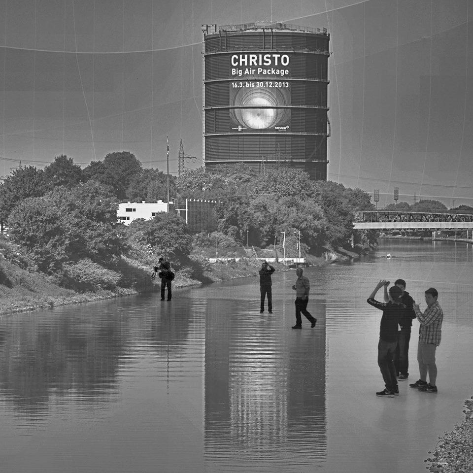 Christo, Big Air Package 2013 - Kombigrafie
