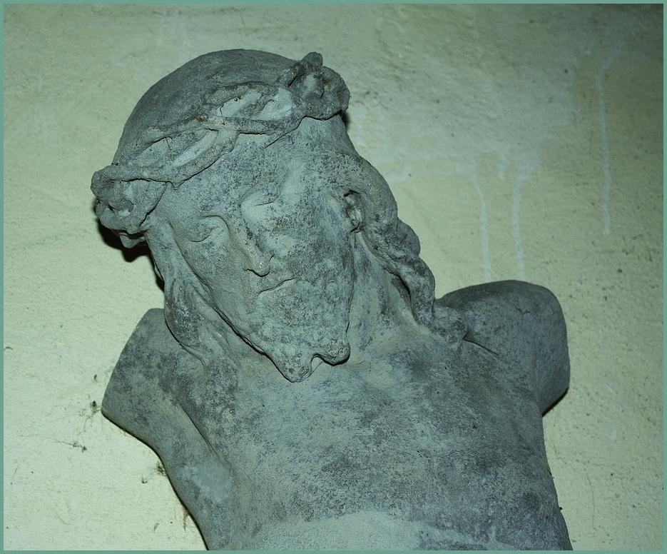 Christusfigur in der Kapelle zu Weitersdorf Thüringen