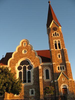 Christuskirche im Abendlicht