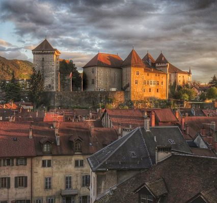 Château d'Annecy en fin de journée