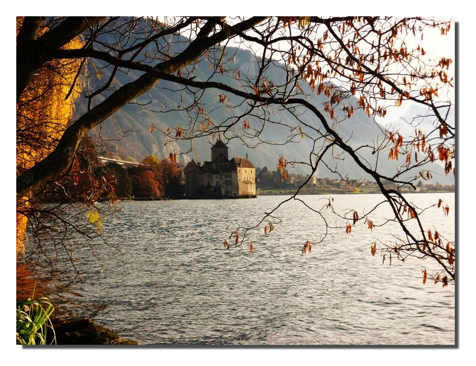 château de chillon et le lac Léman