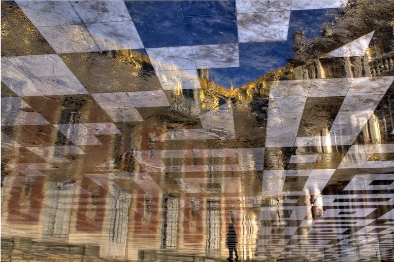 Château de Versailles Reflet de la cour d'honneur
