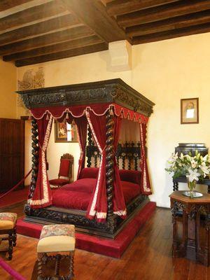 Château du Clos Lucé, à Amboise- chambre de Léonard de Vinci