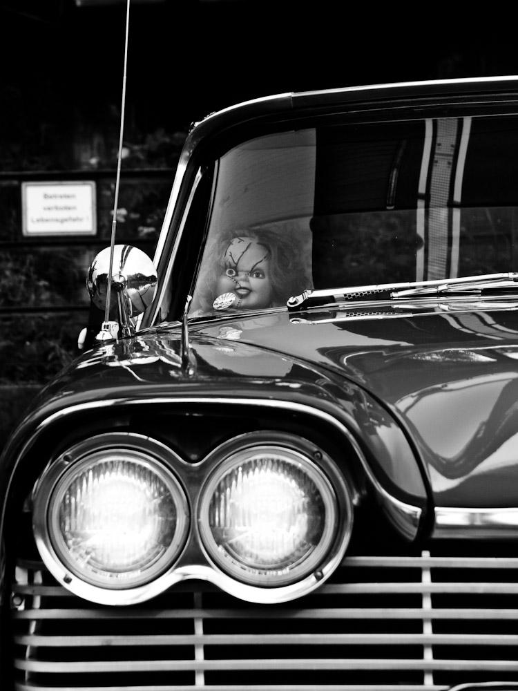 Chucky fährt immer mit