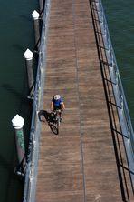 ciclismo en el pantalán