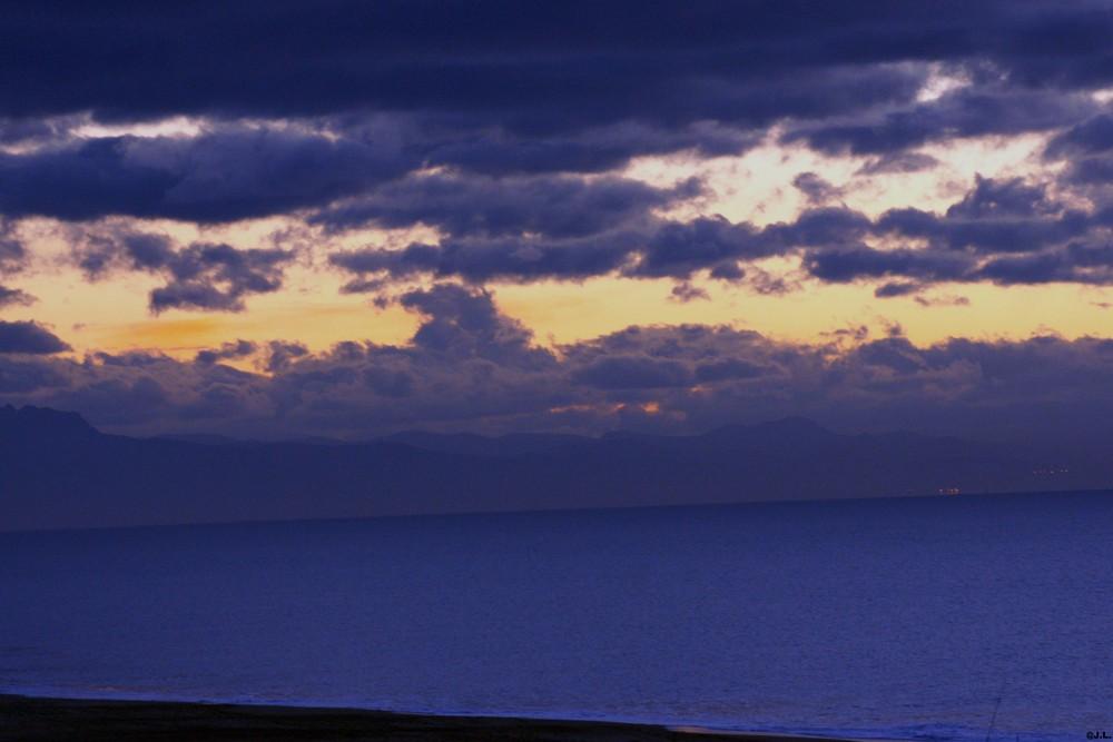 ciel après le coucher de soleil