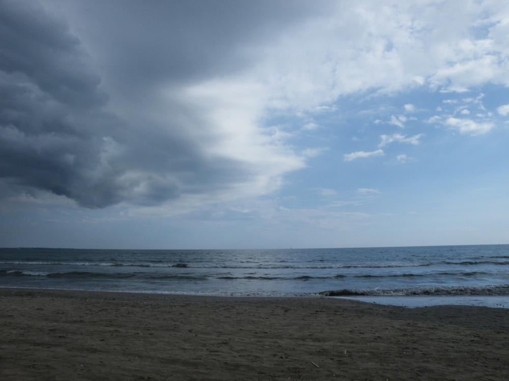 ciel bleu de tempête