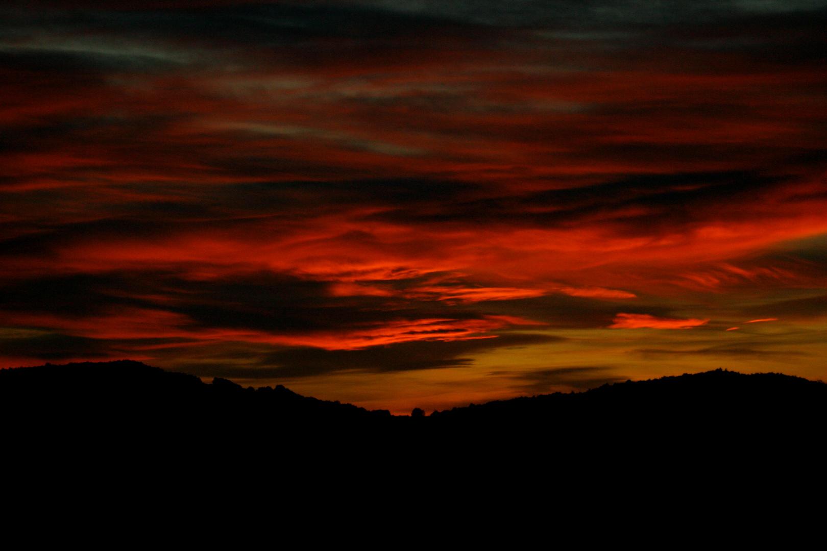 ciel couleur sang