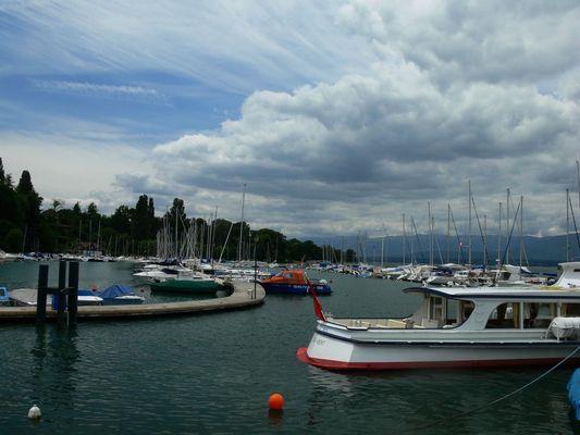 ciel d'orage sur lac