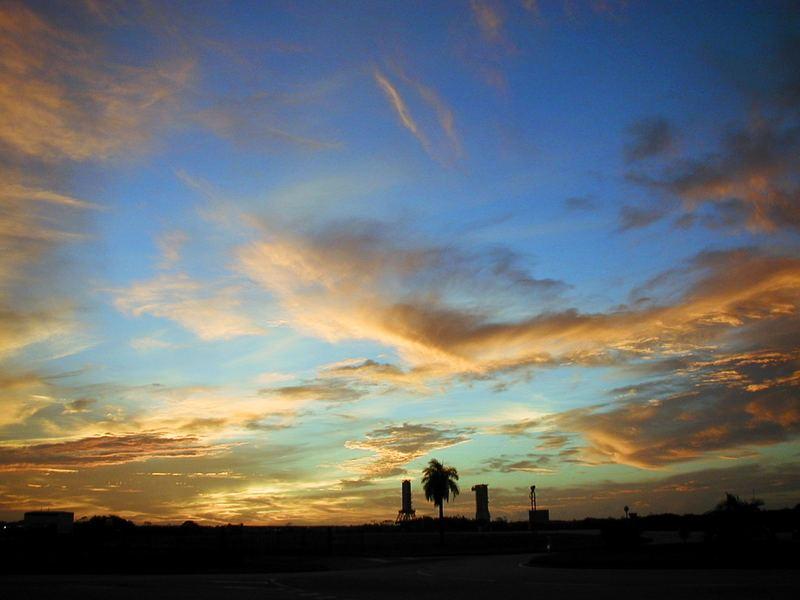 ciel guyanais au dessus du centre spatial KOUROU