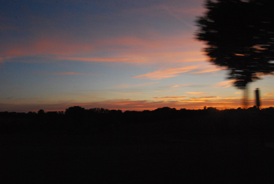 ciel rose et bleu
