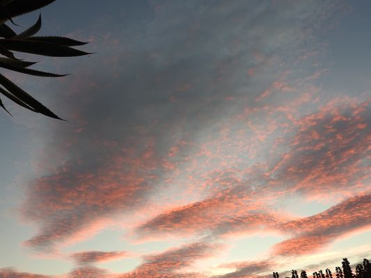 ciel rouge ce matin à la grande motte