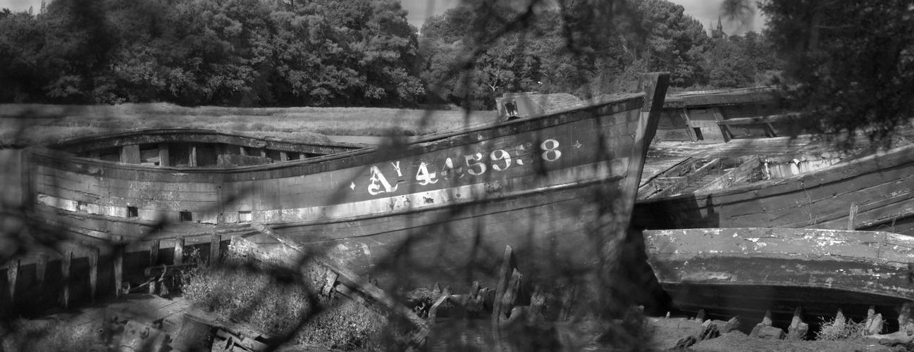 Cimetière aux bateaux... Le Bono...
