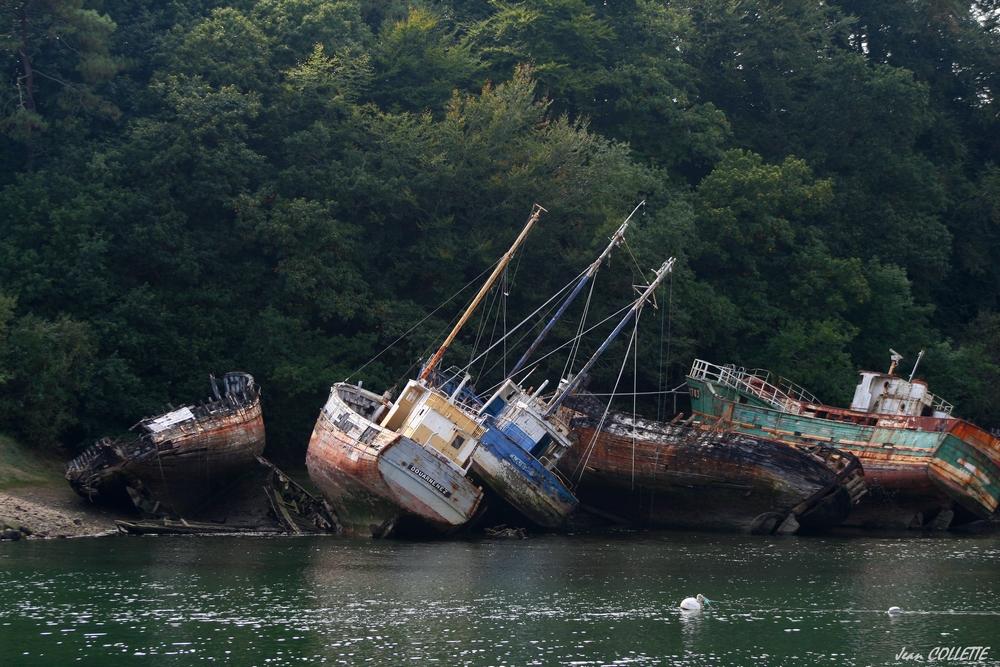 Cimetière de bateaux.