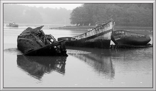 cimetière des bateaux Lanester 56