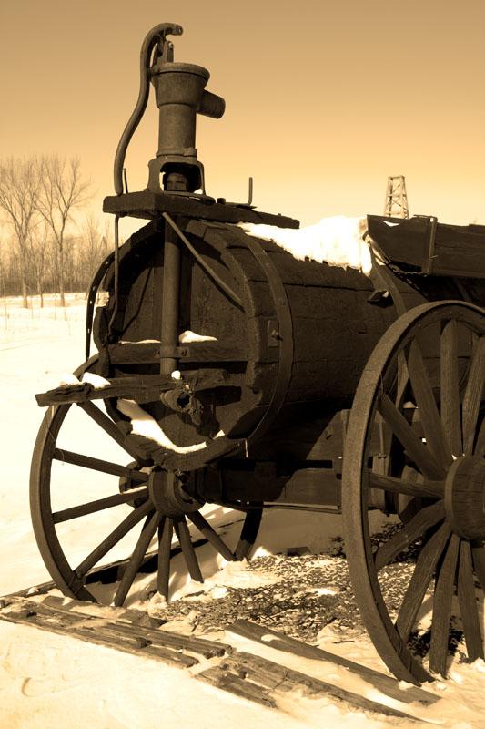 Circa 1860s Oil Wagon - Ontario Canada