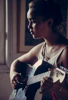 Citra and the guitar.