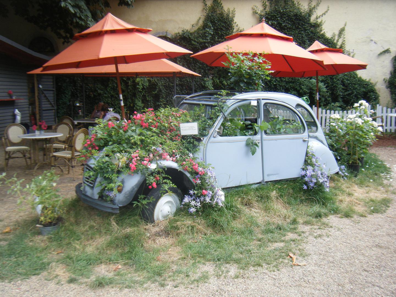 citroen 2cv blumenk bel foto bild autos zweir der oldtimer youngtimer auto legenden. Black Bedroom Furniture Sets. Home Design Ideas