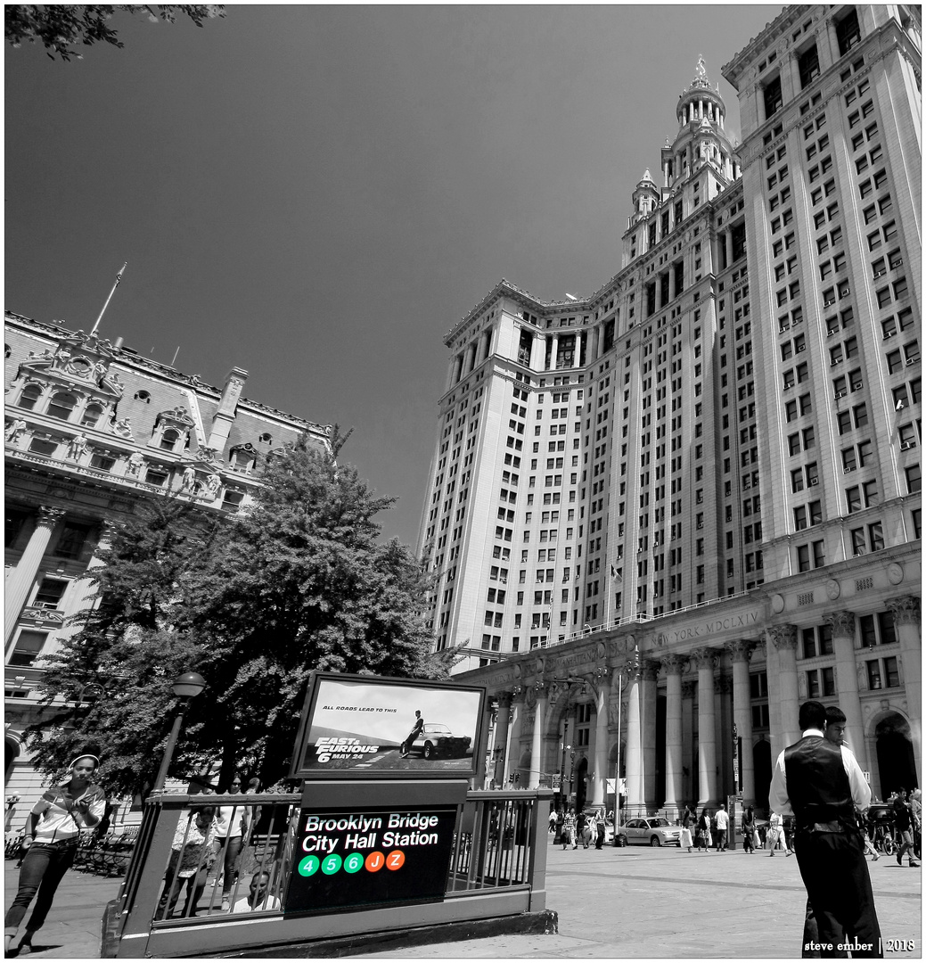 City Hall Plaza, Summer Afternoon