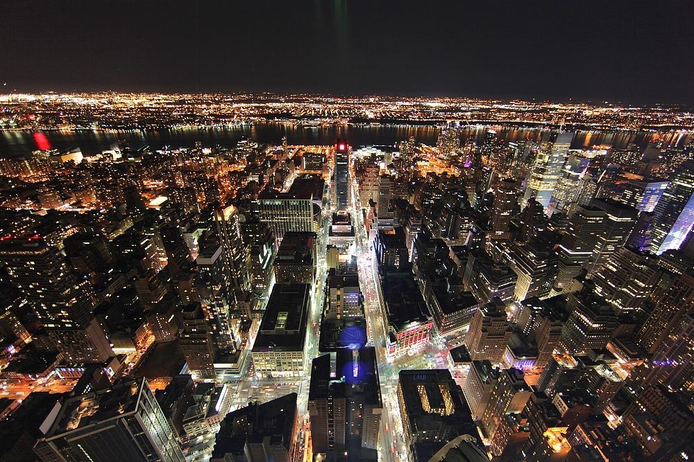 City Lights Below
