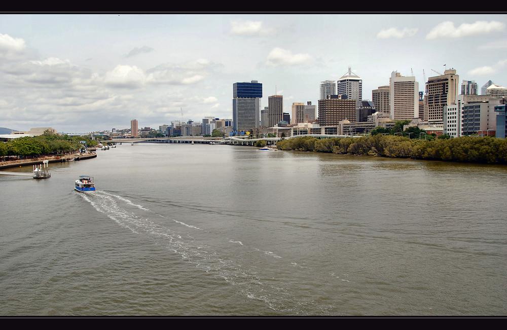 City mit Brisbane River