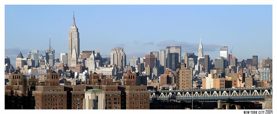 city view from brooklyn bridge
