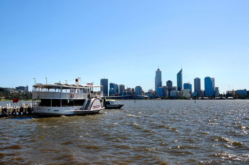Cityblick übern Swan River