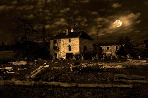 Clair de lune à la ferme