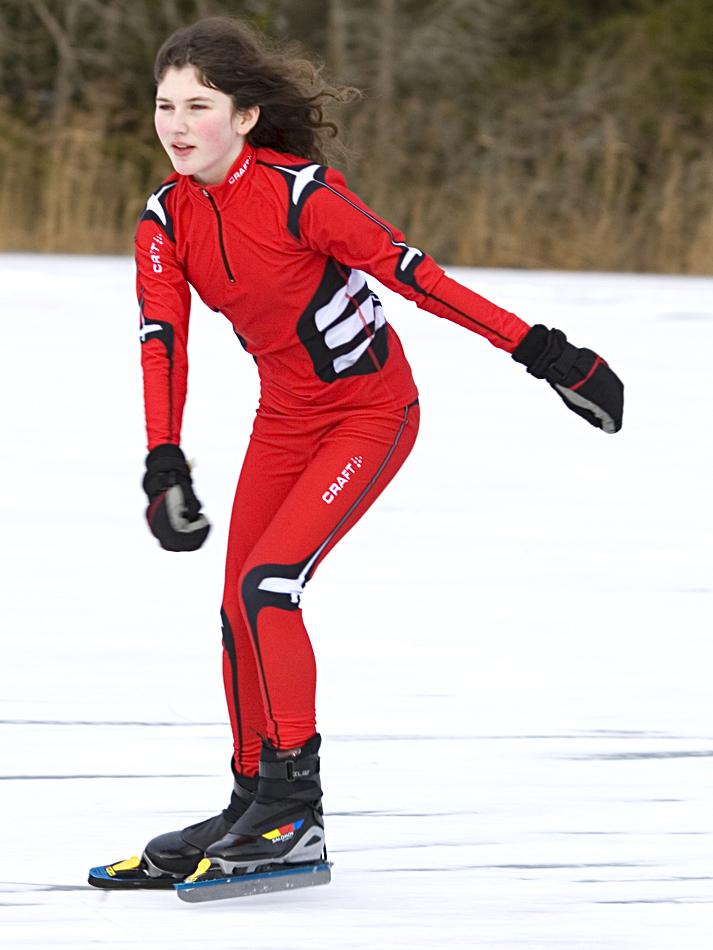 Clara on ice