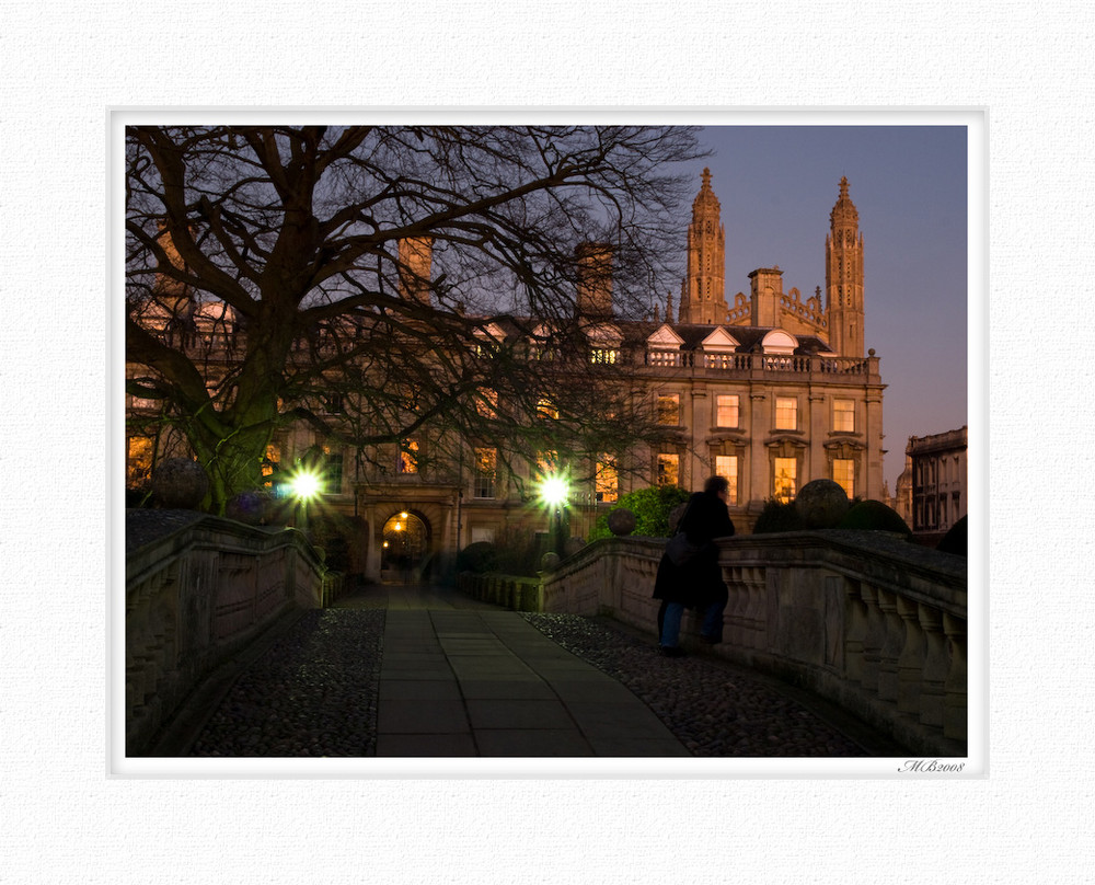 Clare College, background Kings, Cambridge