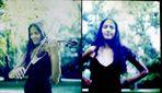 Clarisse dans le parc avec le violon 5