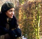 Clarisse dans le parc plein de neige 1