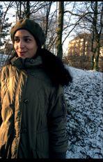 Clarisse im analogen Hamburger Winter 1