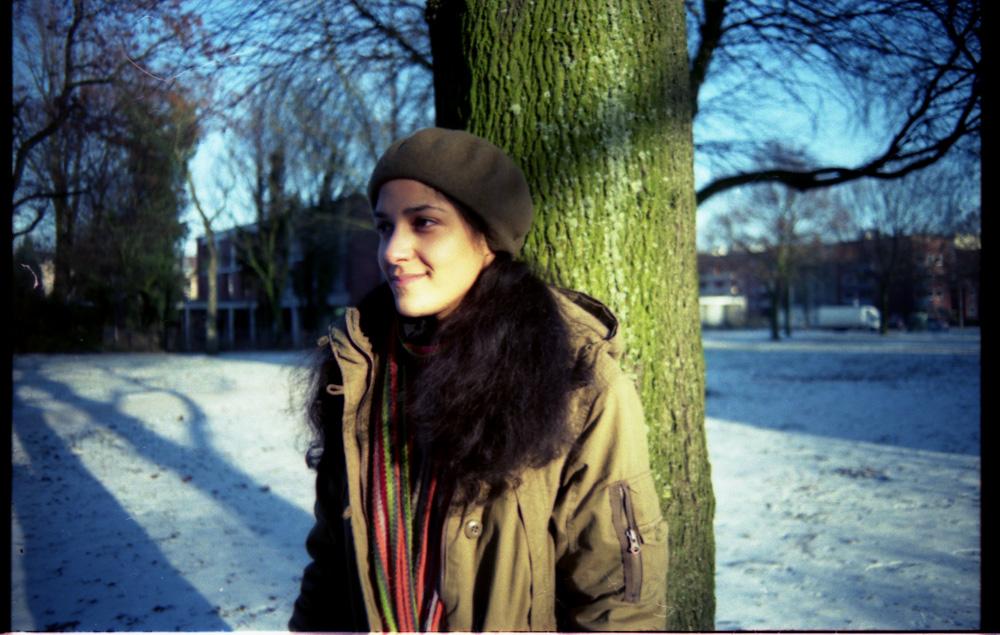 Clarisse im analogen Hamburger Winter 6
